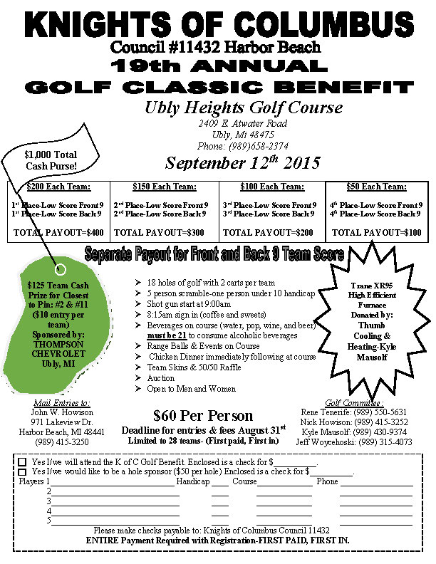 19th Annual Golf Flyer